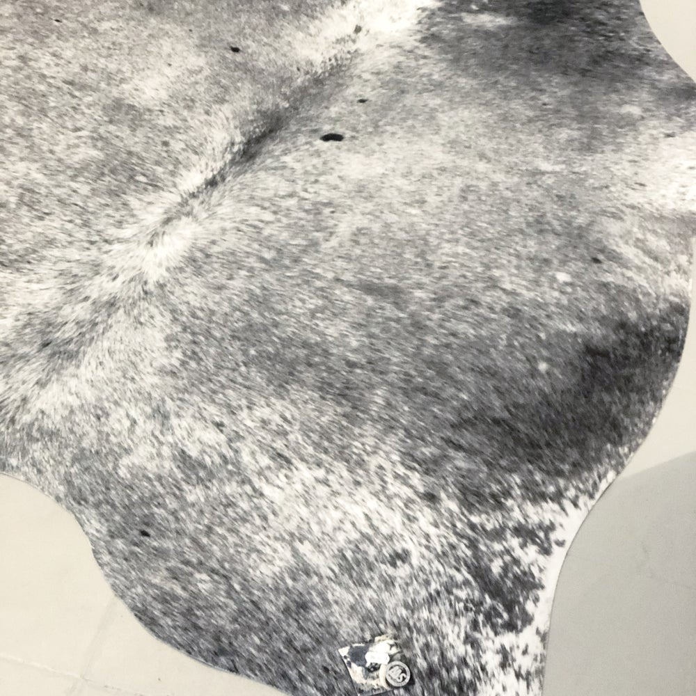 Image of GREY FAUX COW SKIN