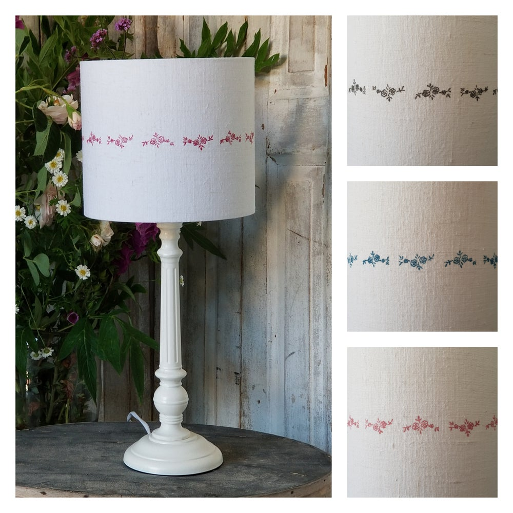 Image of Flowers Print Lampshade - Small