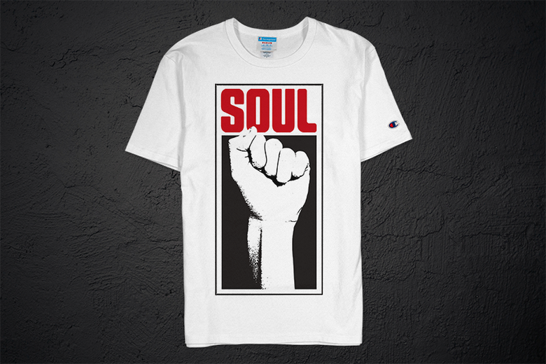 Image of Soul Power Fist Champion Tee (white)
