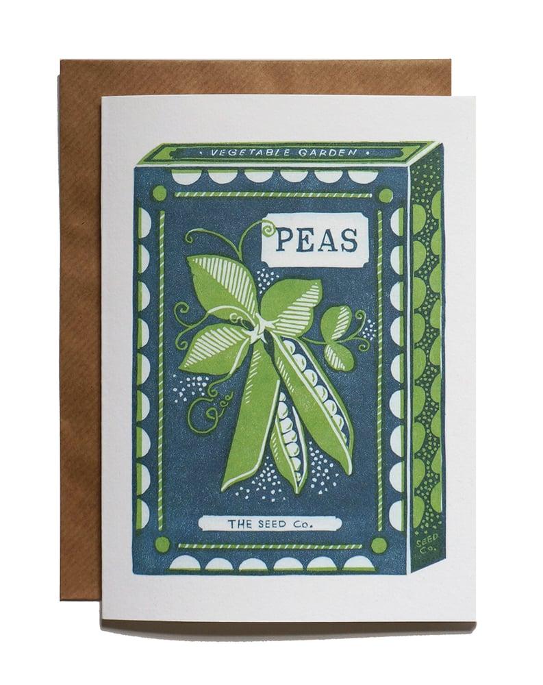 Image of Peas - Greetings Card