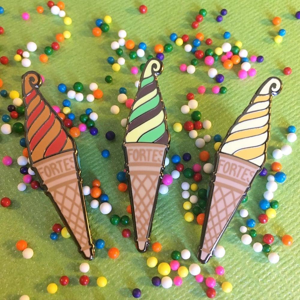 Image of Ice Cream Swirl Pin