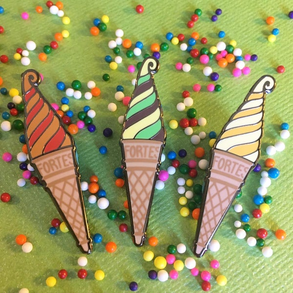 Image of Ice Cream Swirl Pin