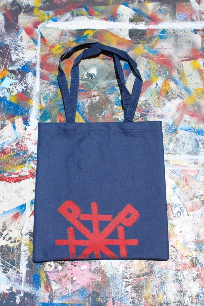 Image of ¿need something? tote bag in navy