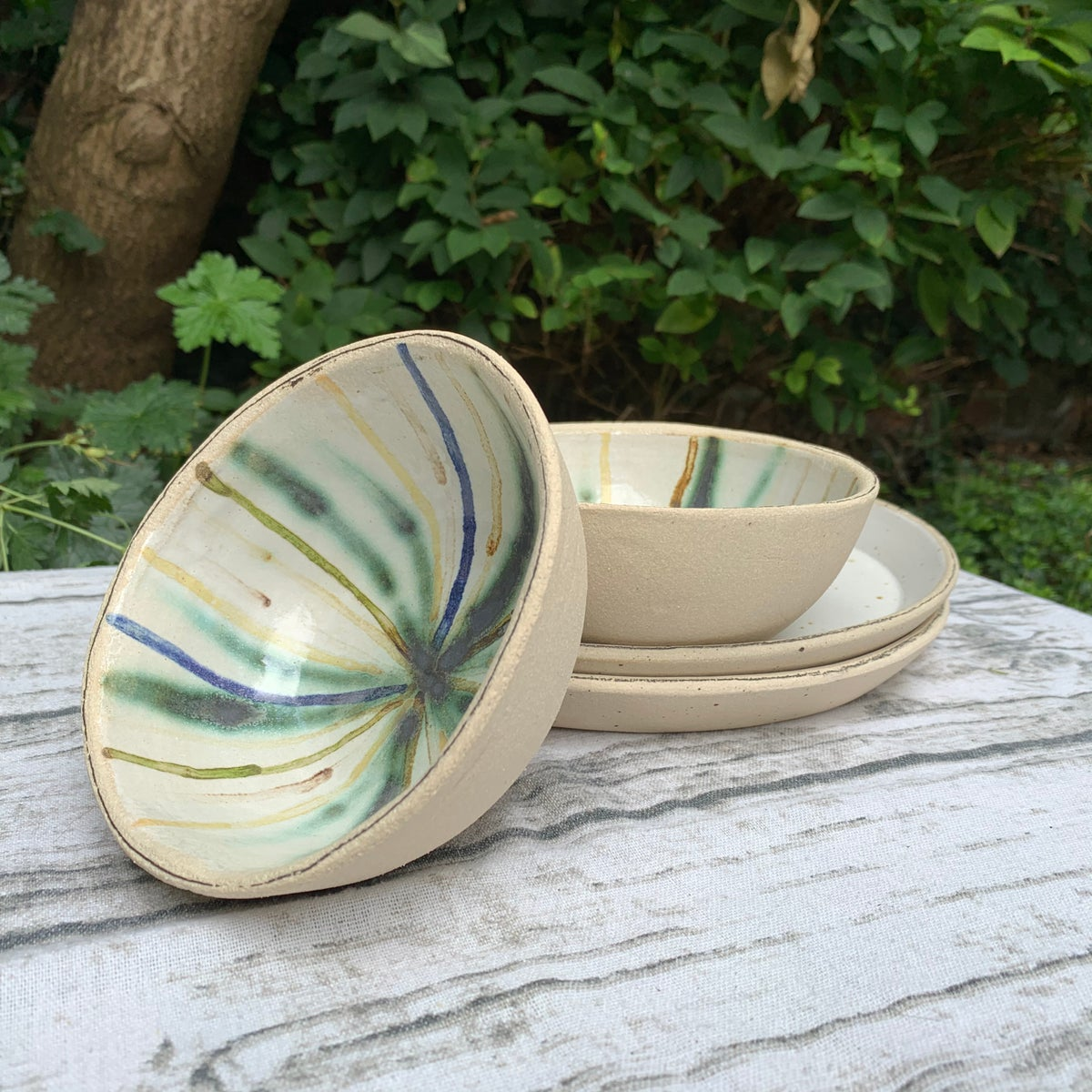 Small bowl, rainbow radiance