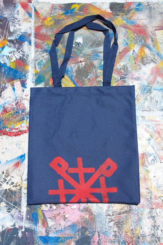 ¿need something? tote bag in navy