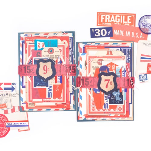Image of Extra Large Ephemera Bundle - Red, White, & Blue
