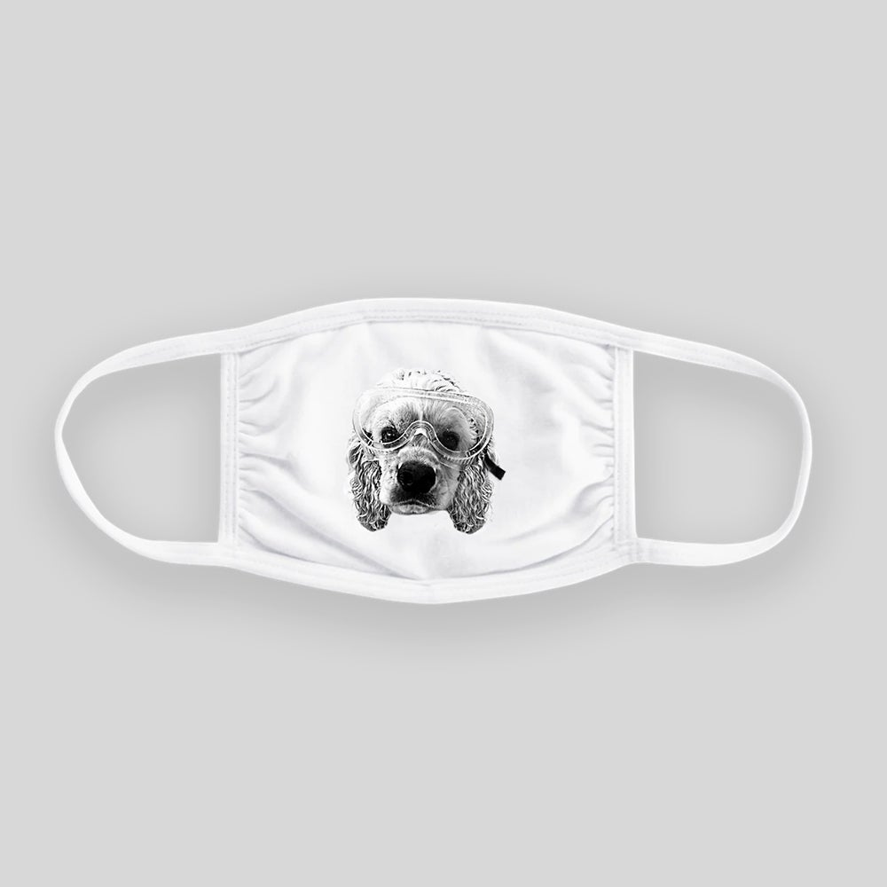 "Image of *SALE* Brian Mackey - ""Charlie"" 100% Cotton Reusable Mask"