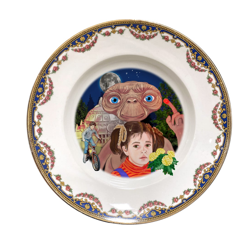 PHONE HOME PORCELAIN PLATE