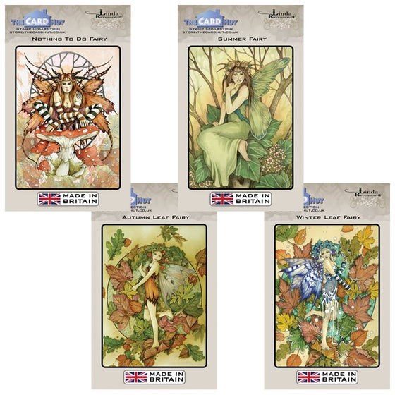 Image of Linda Ravenscroft Seasonal Fairy Stamp Bundle