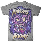 """Image of Aaron's Agony """"Wolf Beast"""" Grey Tee (Available Also Blue)"""