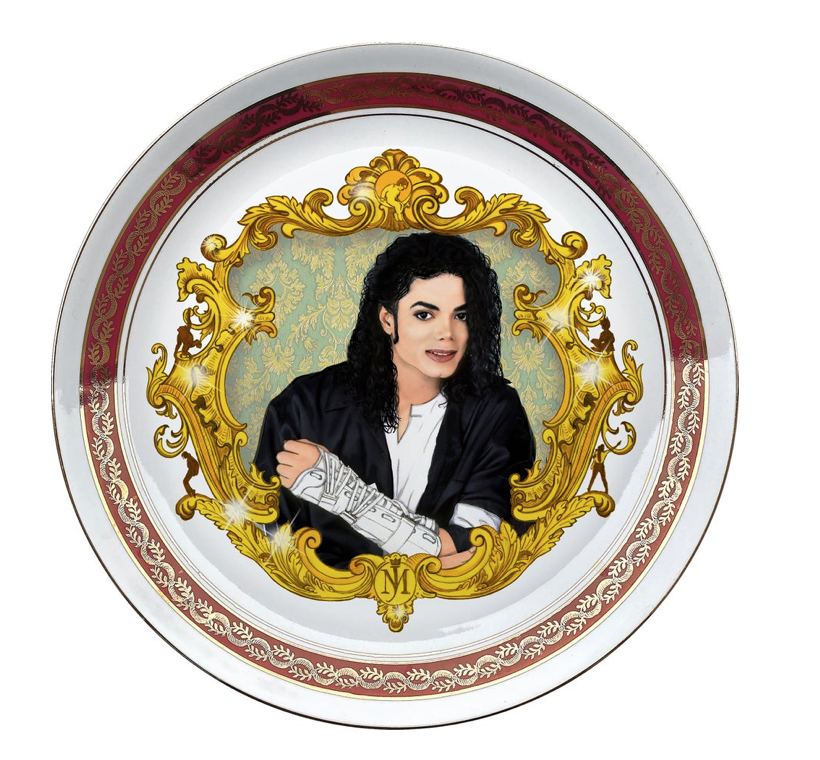 THE KING OF POP PORCELAIN PLATE