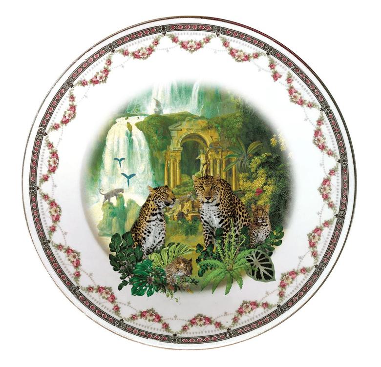 LEOPARDS PORCELAIN PLATE