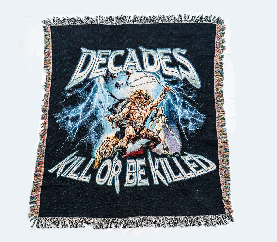 Image of Kill Or Be Killed Woven Tapestry Blanket
