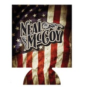 Image of Neal Mccoy American Flag  Koozie