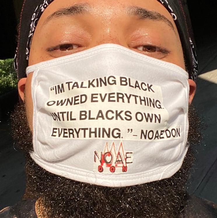 Image of Lyrical Face Mask - Black Owned