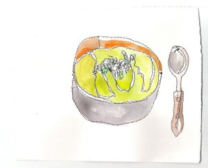 Image of Chilled Avocado and Cilantro Soup