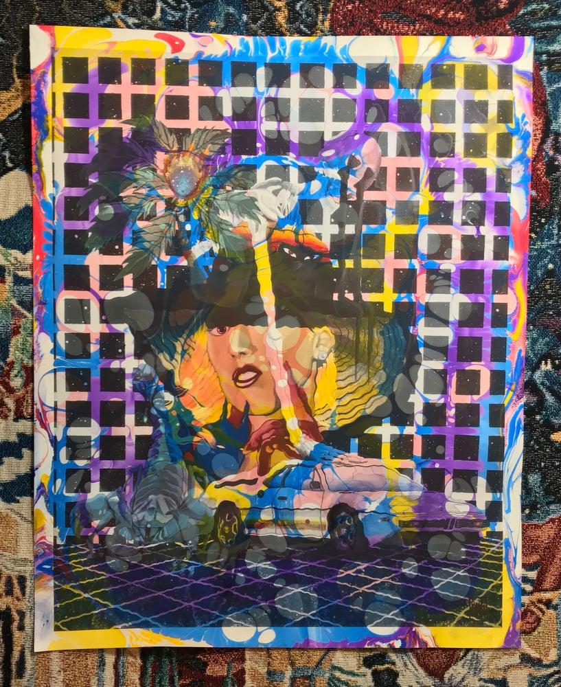Image of 'LA' marbled print