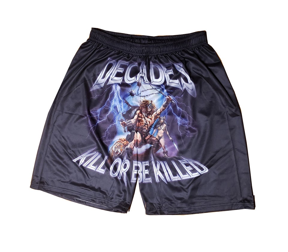 Image of Kill Or Be Killed basketball shorts