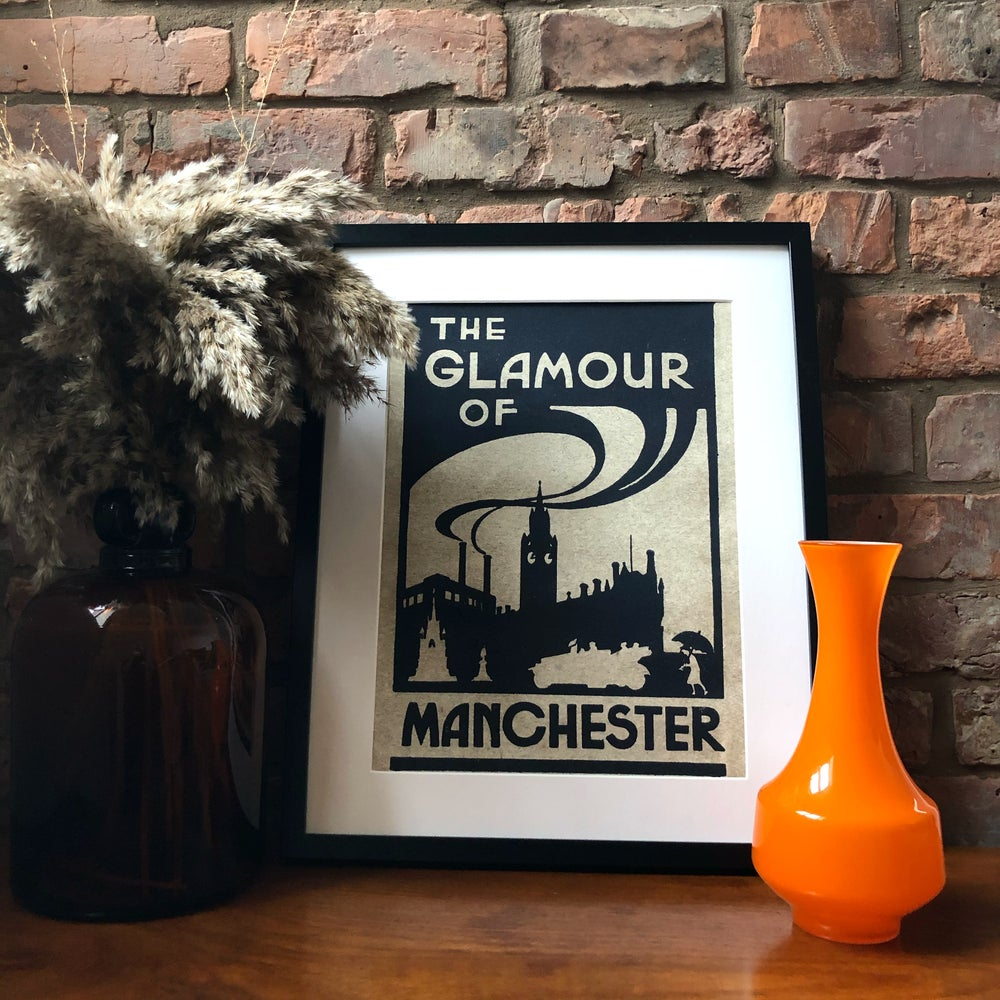 Image of THE GLAMOUR OF MANCHESTER ART PRINT -  A2 + A1 CUSTOM SIZE
