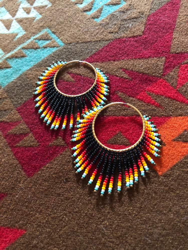 Image of New and improved sunset hoop earrings