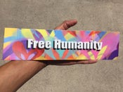 Image of Free Humanity bumper sticker