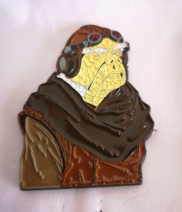"""Image of Kuill 2.5"""" Tall Bust Lapel Pin #8 in Series"""