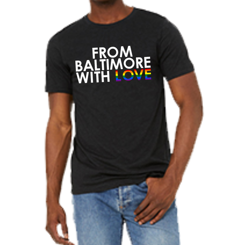 Image of From Baltimore With Love PRIDE SS Tee, Black