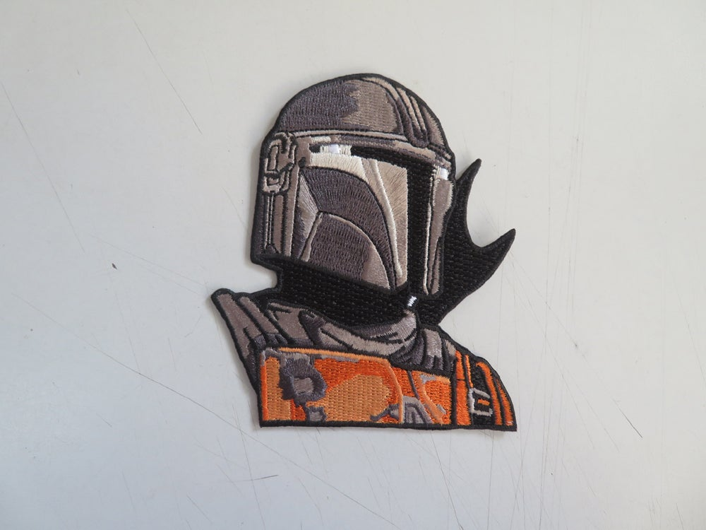 "Image of The Mando 4"" Tall Patch (Standard and Velcro Backing)"