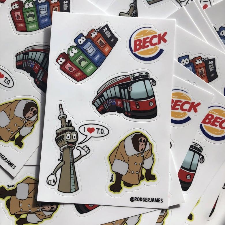 Image of BECK Toronto sticker sheet