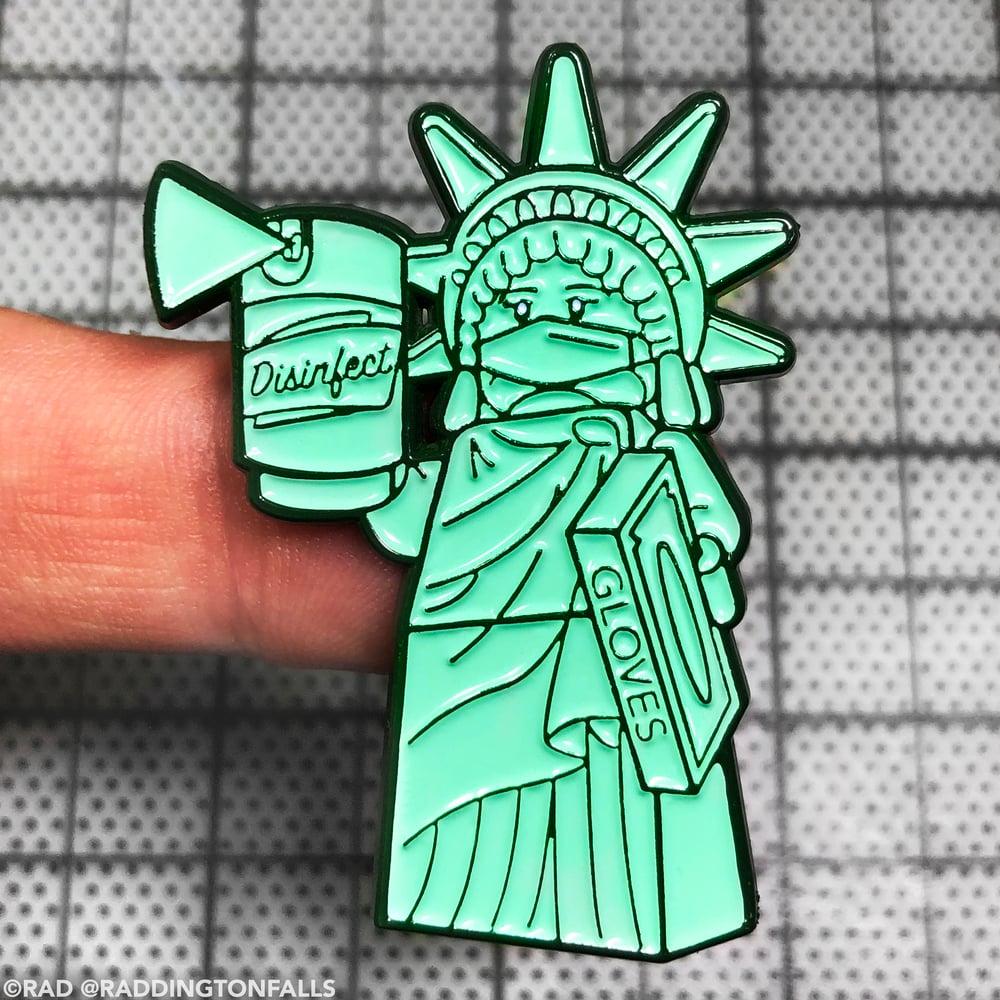 Liberty & Disinfectant Lapel Pin
