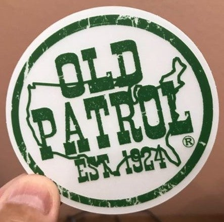 Image of OLD PATROL TRADEMARK DECAL ~ CLEAR