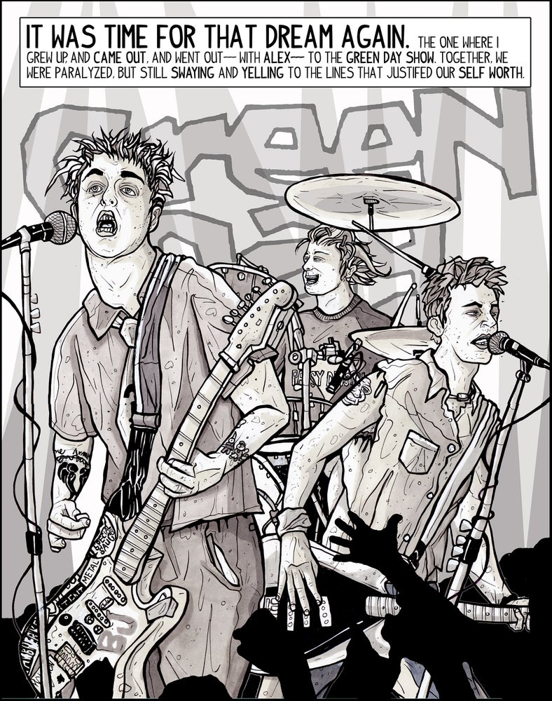 Image of GREEN DAY DREAMS {From Spit & Passion, 2012} Print