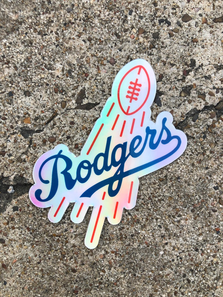 Image of LA RODGERS HOLOGRAPHIC STICKER
