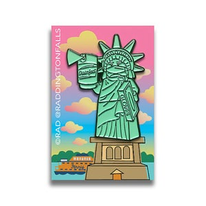 Image of Liberty & Disinfectant Lapel Pin