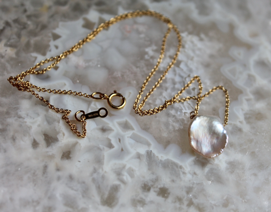 Image of Keshi Pearl Necklace - gold filled