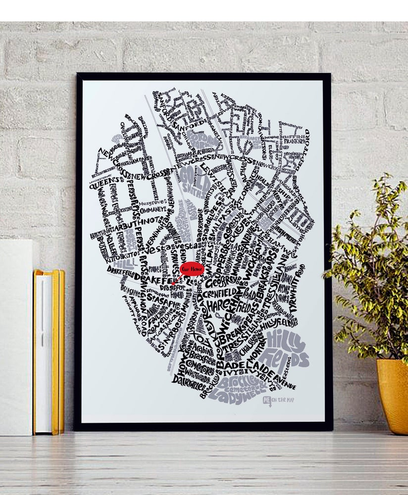 Image of Brockley SE4 & New Cross SE14 - SE London Type Map - White