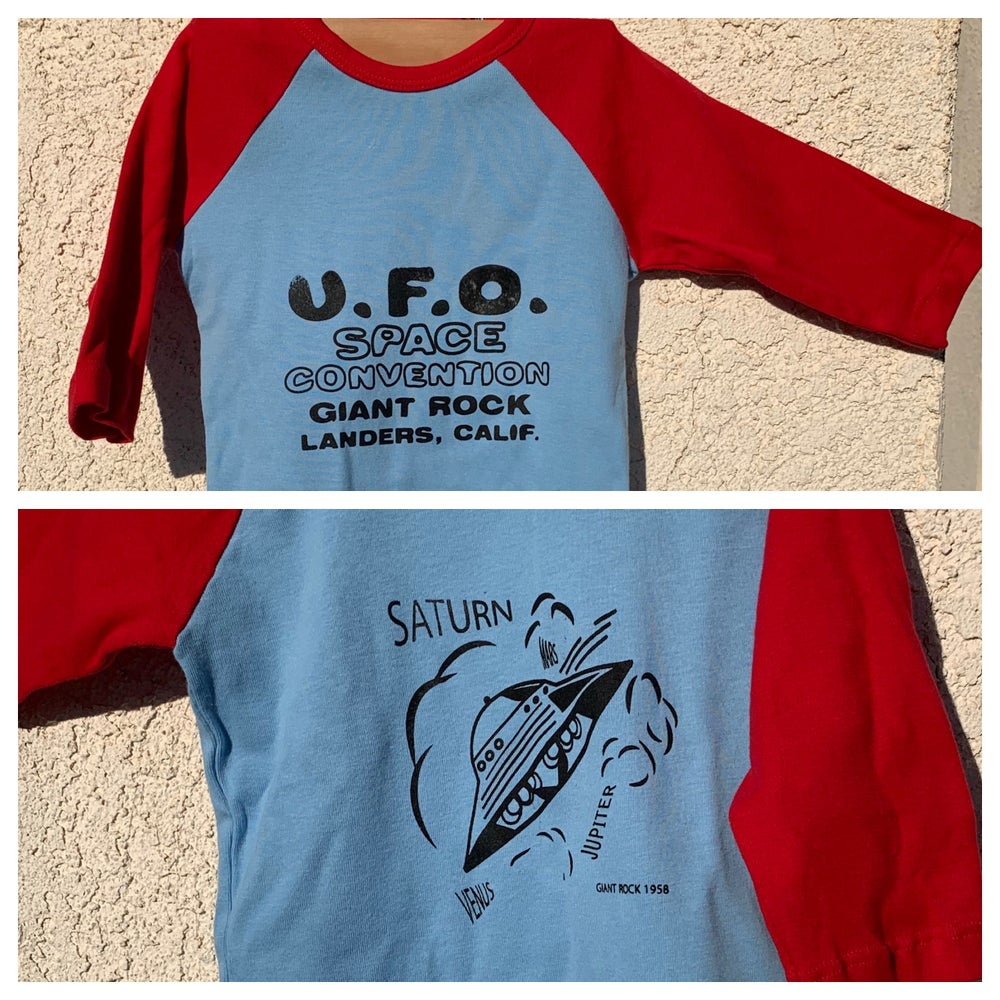 Image of Little Kids Raglan Red and Blue UFO shirt LIMITED Quantities sizes 2, 4 & 6
