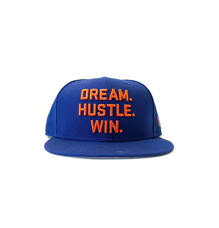 Image of 2520 X NEW ERA DREAM. HUSTLE. WIN. 9FIFTY SNAPBACK - LIGHT ROYAL