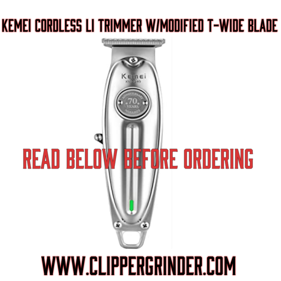 Image of 3 Week Delivery/High Order Volume) Cordless Kemei Trimmer W/Modified Wahl 5 🌟 T-Wide Blade