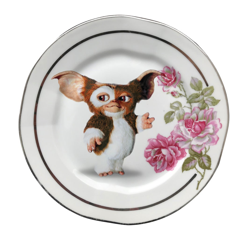 80s PUPPY PORCELAIN PLATE