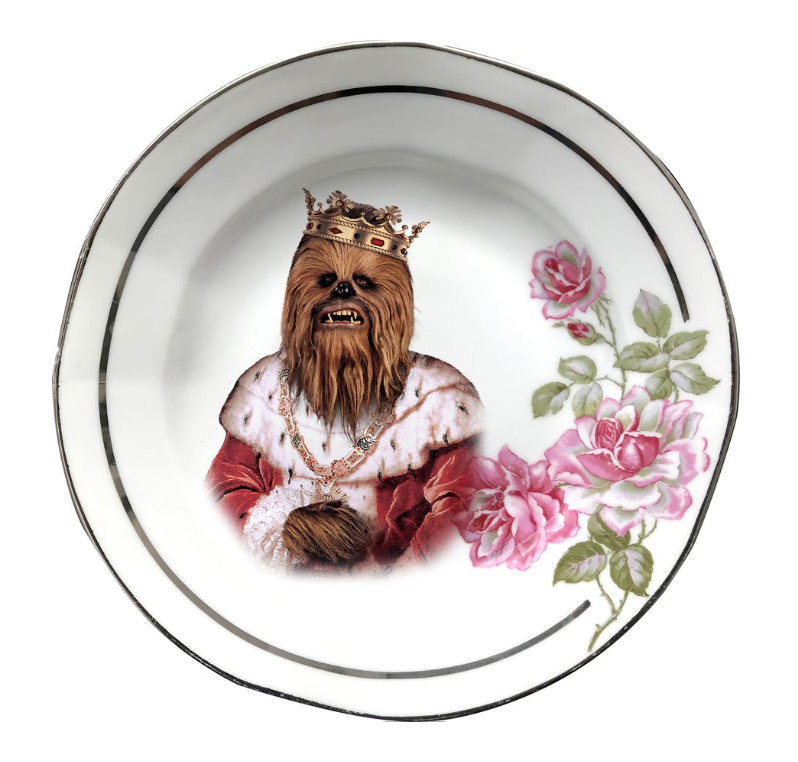 KING OF THE WOOKIES PORCELAIN PLATE