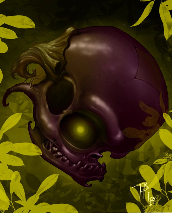 Image of Eggplant Skull with Lindsay Bug Baker !