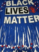 Image 3 of Black Lives Matter Beaded Upcycled USA Statement T-Shirt