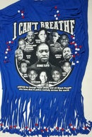 Image 4 of Black Lives Matter Beaded Upcycled USA Statement T-Shirt