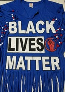 Image 5 of Black Lives Matter Beaded Upcycled USA Statement T-Shirt
