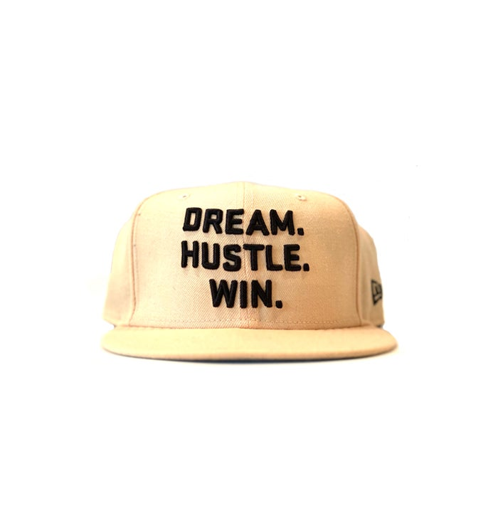 Image of 2520 X NEW ERA DREAM. HUSTLE. WIN. 9FIFTY SNAPBACK - MANGO MOCHA