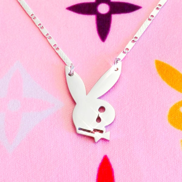 "Image of ""Playgirlz Need Luv 2"" Necklace SILVER"