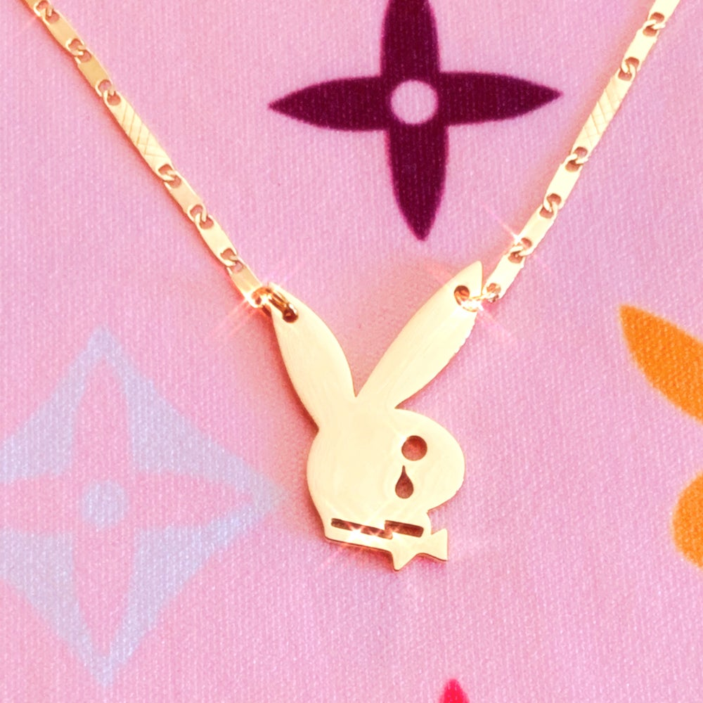 "Image of ""Playgirlz Need Luv 2"" Necklace GOLD"