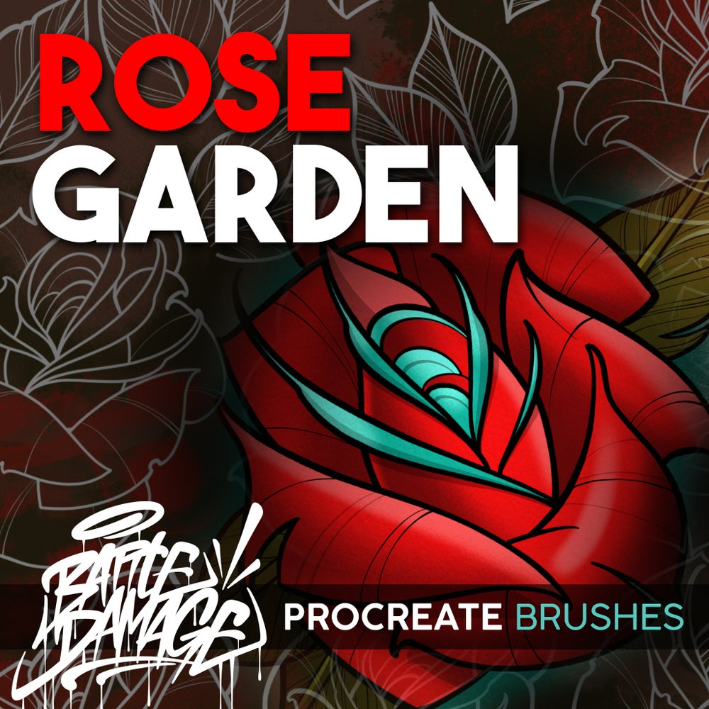 Image of Rose Garden Procreate Brush Set