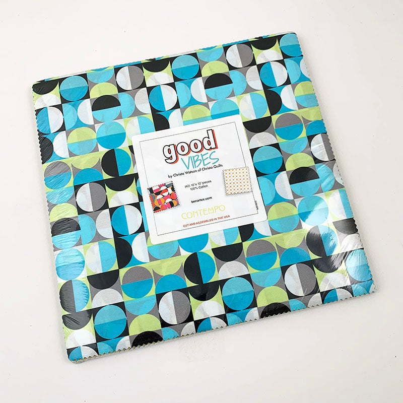 "Good Vibes Layer Cake 10"" x 10"" Squares"